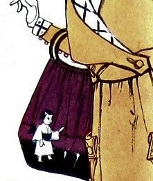 Bag, Butterick transfer pattern 10686 from 1918.