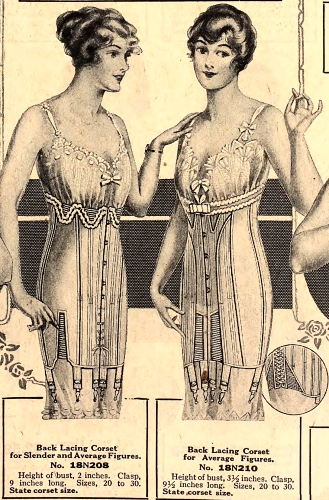 Corsets for Fall, 1918. Sears catalog.