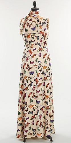 Elsa Schiaparelli butterfly dress, in the Metropolitan Museum Costume Collection.