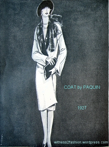 Informal coat by Paquin, Delineator. March 1927, p. 18.